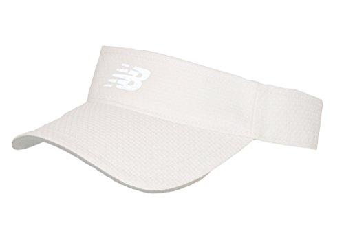 New Balance Adult Performance Sport Visor Headwear, White, One Size