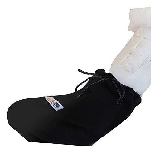 Gips Fuß Deckt Socken Erwachsene Plus Dünger Plus Dicker Baumwolle Atmungsaktiv Geeignet Für Geschwollene Beine Und Toe Patienten, 26Cmx34Cm, Schwarz, 26Cmx34Cm jkhjghfghgrf