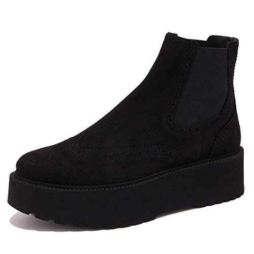 Hogan 7120K Beatles Donna Black H355 Scarpe Suede Boot Woman [40]