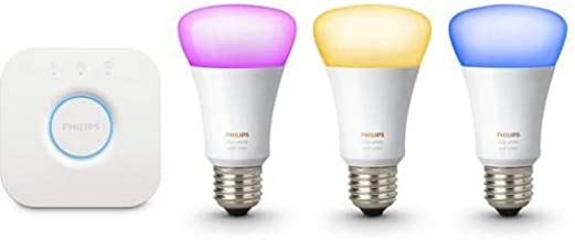 Philips Hue White and Color Ambiance Wireless Lighting 3rd Generation E27 Starter Kit