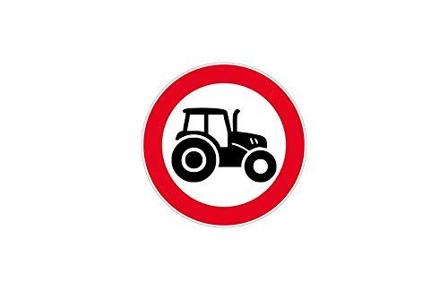 Stickers voor deurschild Let op tractor