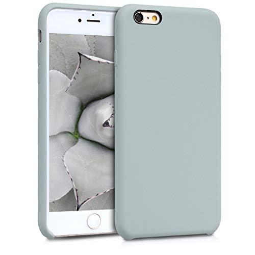 kwmobile Hülle kompatibel mit Apple iPhone 6 Plus / 6S Plus - Hülle Handyhülle gummiert - Handy Hülle in Hellgrau matt