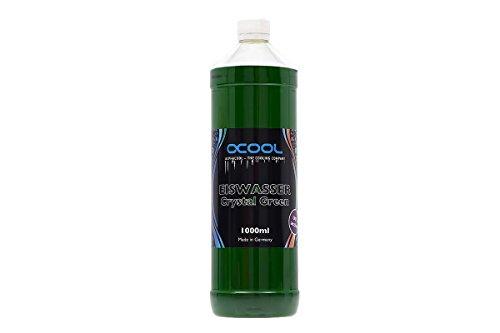 AlphaCool 18545 Eiswasser Crystal Green UV-Active premixed coolant 1000ml Refrigeración Líquida Aditivos Agua