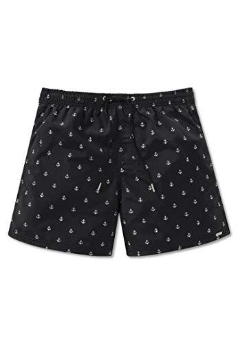 Schiesser Herren Bade-Shorts - Web-Badehose, Pants, Swim-Shorts, Anker, M-5XL Schwarz 2XL