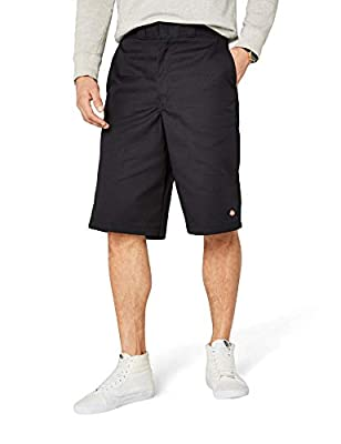 Dickies Men's 13 Inch Loose Fit Multi-Pocket Work Short, Black, 36