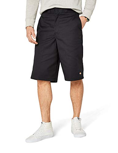 Dickies Men's 13 Inch Loose Fit Multi-Pocket Work Short, Black, 34
