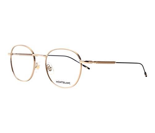 Montblanc Occhiale da Vista MB0048O 002 oro montatura metallo taglia 51 mm occhiale uomo