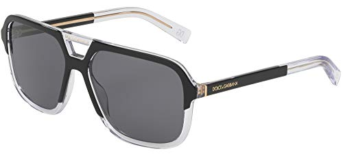 Dolce & Gabbana ANGEL DG 4354 BLACK CRYSTAL/GREY 58/15/145 men Sunglasses