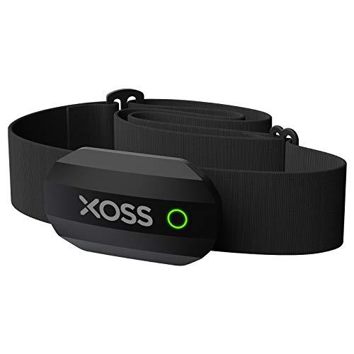 XOSS Cardiofrequenzimetro Bluetooth/Ant + Cinturino pettorale IP67 Impermeabile può connettersi con App Sportive e Computer da Ciclismo, per Corsa, Ciclismo, Palestra, Sport all\'Aria Aperta