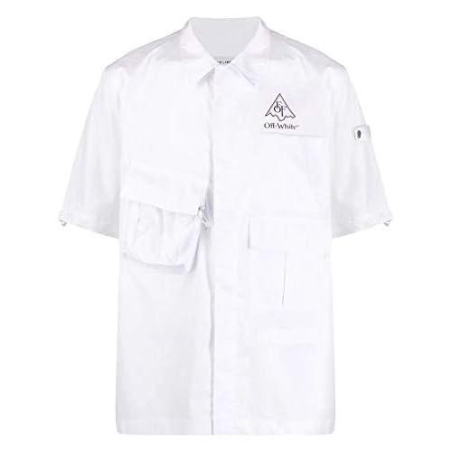 OFF-WHITE Luxury Fashion Uomo OMGA116S20H920170110 Bianco Cotone Camicia   Primavera-Estate 20