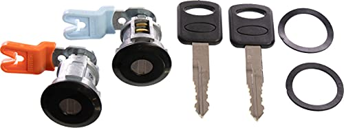 APDTY 140060 Door Lock Cylinder Pair With New Keys Left & Right