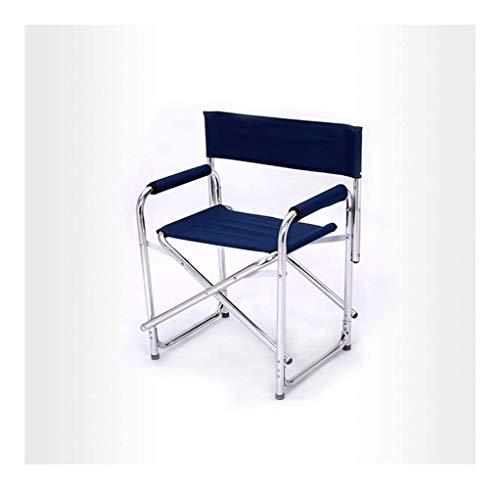 YANGYUAN Sillas plegables de aluminio para directores fabricados en China – Color crudo original sobre tela de algodón natural para muebles de exterior – L63 x 46 x 78 cm (color: A)