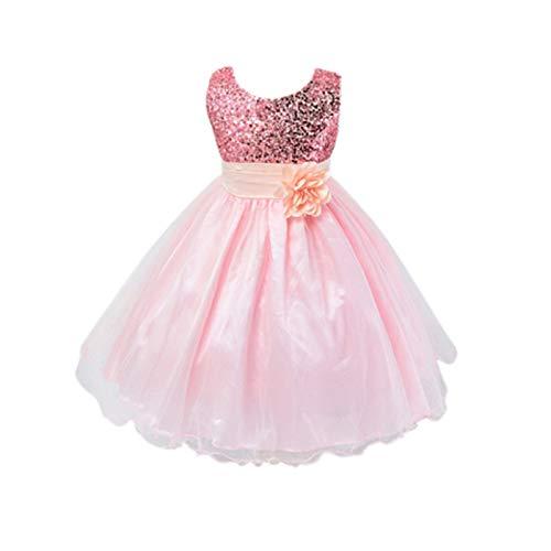 Live it estilo it ni̱a con lentejuelas vestido flor princesa sin mangas...