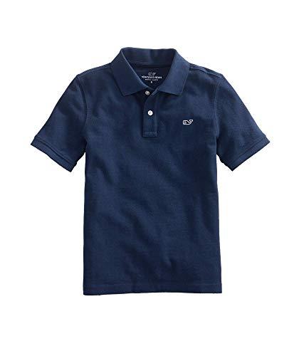 Vineyard Vines unisex child Kid's Pique Short Sleeve Polo Shirt, Vineyard Navy, 6 US