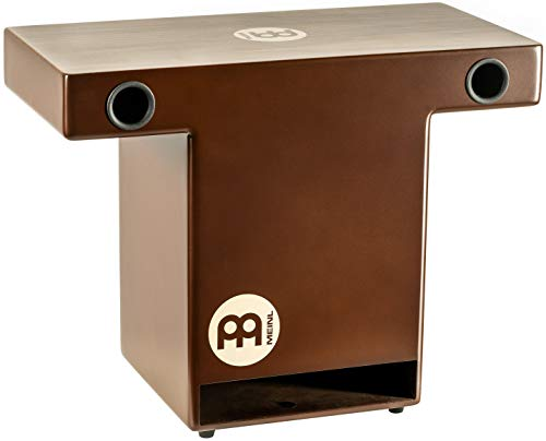 Meinl Slaptop Cajon Box Drum with Internal Snares and Forward Projecting Sound Ports - NOT MADE IN CHINA - Walnut Playing Surface, 2-YEAR WARRANTY (TOPCAJ2WN)