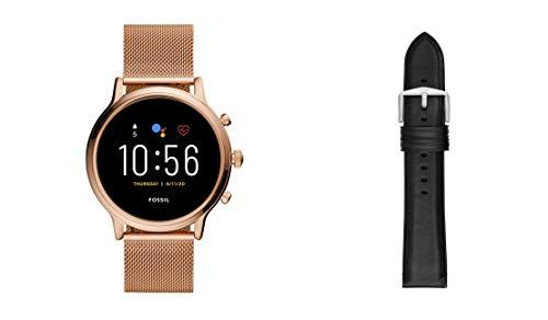 Fossil Smartwatch Pantalla táctil para Mujer de Connected con Correa en Malla de Acero Inoxidable FTW6062 + Correa para Reloj S221296