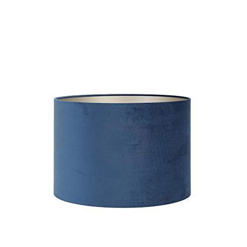 Light & Living lampenkap cilinder 35-35-30 cm Velours petrol blauw voor woonkamer eetkamer slaapkamer enz.