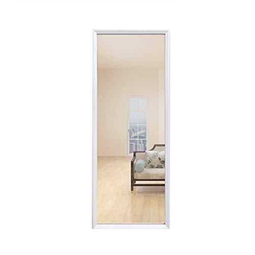 Specchio a Figura Intera Nordic Legno Dressing Specchio Bedroom Parete Full Body Prova Abbigliamento Piano Specchi Specchio a Figura Intera per Camera da Letto (Colore : White, Size : 150x33cm)