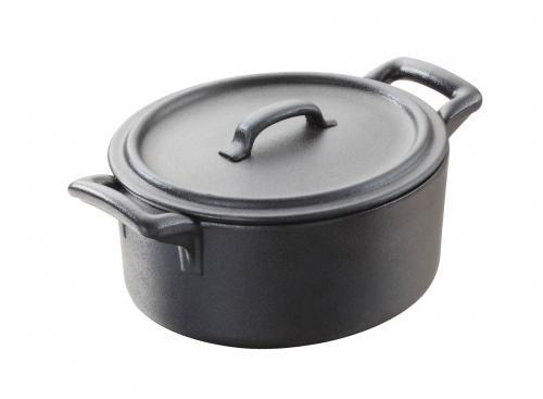Revol Belle Cuisine Black Porcelain 21.25 Ounce Rectangular Terrine with Lid