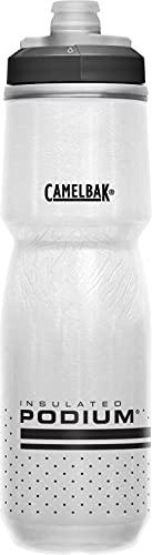 CamelBak Podium Chill Insulated Bike Water Bottle 24 oz, White/Black