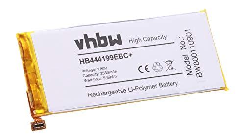 vhbw Li-Polymer Akku 2550mAh (3.8V) für Handy Smartphone Telefon Huawei C8818, CHM-CL00, CHM-TL00H, CHM-UL00, G Play Mini, Honor 4C wie HB444199EBC+.