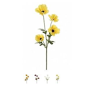 Amapolas silvestres de seda pintadas con spray en tallo con 4cabezas calidad flores artificiales