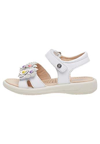Naturino Capri-Sandale mit Leder-Blümchen-Weiß weiß 29