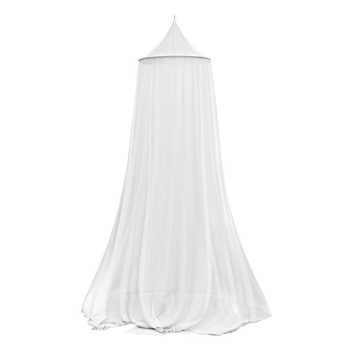 Trademark Global Mosquito Repelling Net for Beds, Hammocks, and Cribs - Insect Protection Hanging Canopy for Camping with Large Screen Opening by Lavish Home - 75-31215 , White