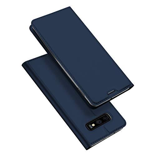 DUX DUCIS Hülle für Samsung Galaxy S10E, Leder Flip Handyhülle Schutzhülle Tasche Hülle mit [Kartenfach] [Standfunktion] [Magnetverschluss] für Samsung Galaxy S10E (Blau)