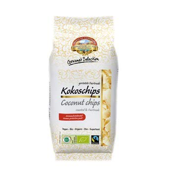 Bio Fairtrade Kokoschips geröstet 12x110g Öko Kokos Kokosnuss Chips, 100% natur, ungesüsst ohne Zuckerzusatz, ungeschwefelt 1,32kg