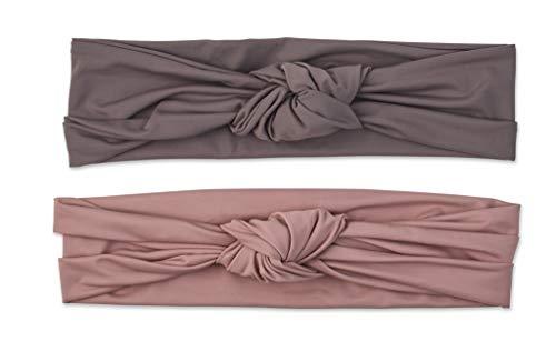 Scunci Soft Knot Headwraps, Neutral, 2 Count