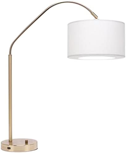 Daily bargain sale Lights Up 569BB-BUC Belle 4 years warranty Arc Table Finish Brass in Burnish with