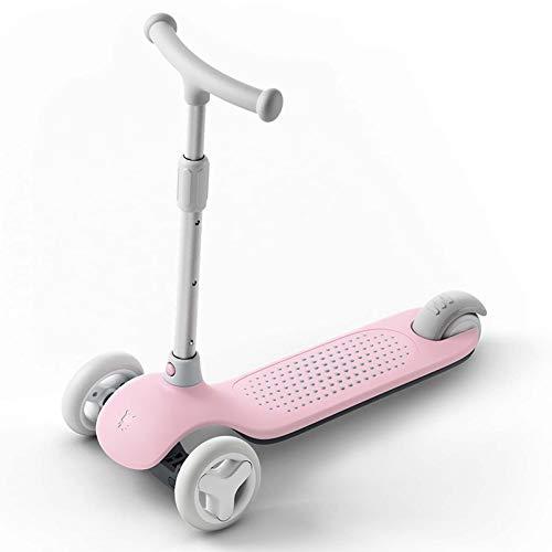 Scooter Scooter de los niños - scooter plegable para niñas niños truco scooter completo truco scooters intermedio y principiante estilo libre trucos scooters para 8 años de edad ( Color : Pink )