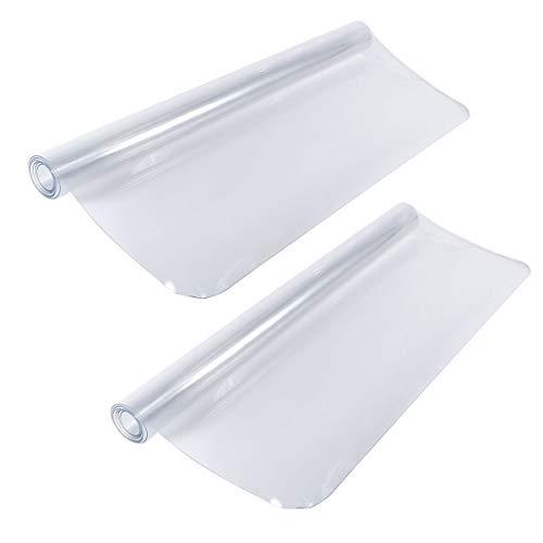 Anladia 2 Stück Bodenschutzmatte Transparent Schutzfolie als Tischfolie Bürostuhlunterlage für Hartböden 120x120cm