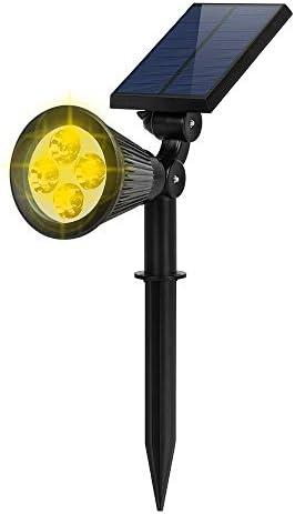 Solar Spot Lights Outdoor FALOVE 2 in 1 Wall Ground Light Solar Flag Pole Light Adjustable Landscape product image