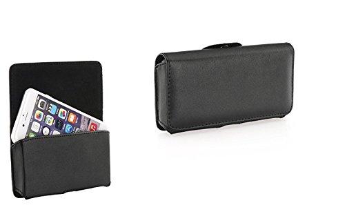 Premium Handytasche Quertasche Gürteltasche passend für Mobistel Cynus E8 - Handy Schutz Hülle Outdoor Case Cover Etui schwarz