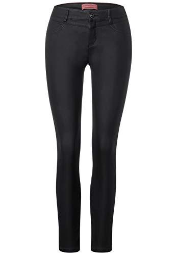 Street One Damen 373510 Style York Slim Fit Hose, Black, W40/L32