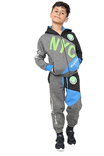 Chándal para niños NYC Deluxe Edition con capucha y parte inferior completa para niños de 7 a 13 años