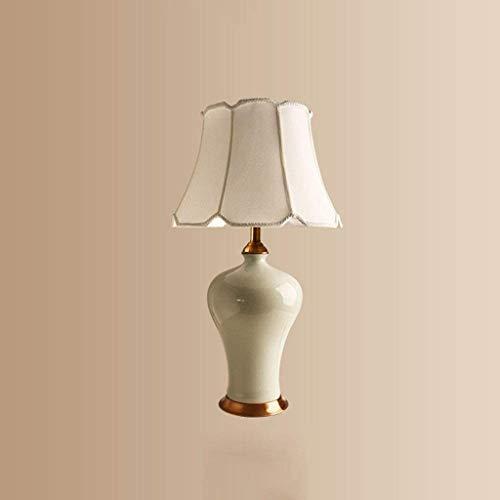 NXYJD Creative Design Retro Tradicional de Ahorro de energía de cerámica lámpara de Mesa del Dormitorio del Hotel Mesa de la Sala Baja de cerámica lámpara de Mesa