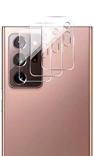 QULLOO Kamera Panzerglas für Samsung Galaxy Note 20 Ultra, [3 Stück] Kamera Schutzfolie Anti-Kratzen Kameraschutz für Samsung Galaxy Note 20 Ultra 5G - Transparent
