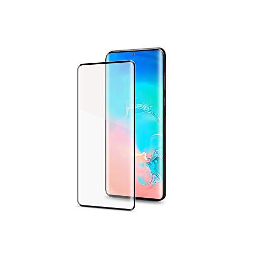 Celly Pellicola proteggi schermo 3D in vetro temperato per Samsung Galaxy S20, durezza 9H, bordi arrotondati anti-impronte, antigraffio, nero
