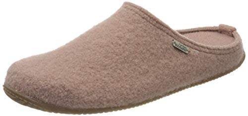 Living Kitzbühel Unisex Pantoffel unifarben mit Fußbett Hausschuh, Woodrose, 38 EU