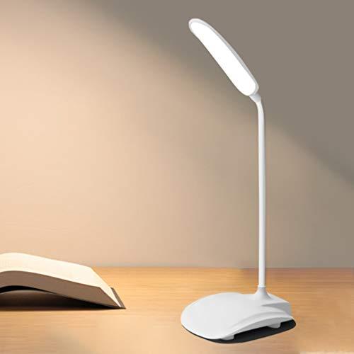 Lámpara de escritorio LED de ahorro de energía de tres niveles de atenuación USB recargable luz de lectura flexible y sin parpadeo dormitorio noche luz