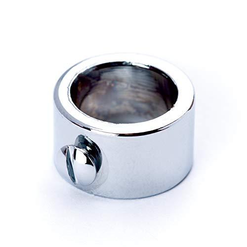Stellring Messing für Rohr Ø 10 mm seitlich Feststellstellschraube/veredelt Stellschraube Schraube Ring chrom silber