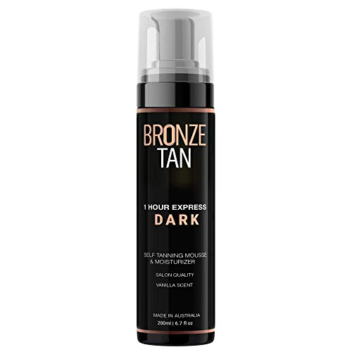 Bronze Tan Dark Self Tanner and Self Tanning Mousse For Fair to Medium Skin Tones Salon Quality...