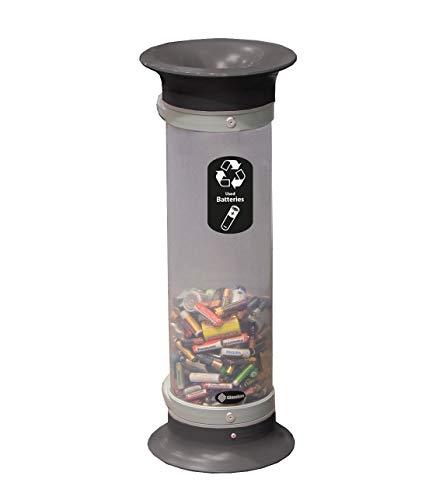 C-Thru 10Q Battery Recycling Bin - Black – Transparent Plastic Tube