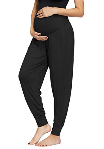Women Maternity Jogger Pants Loose Casual Lounge Pilates Yoga Pants by Maacie
