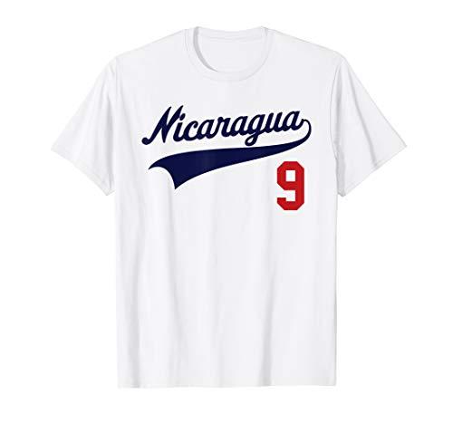 Nicaragua Soccer Jersey Camiseta Baseball Beisbol T-Shirt 9