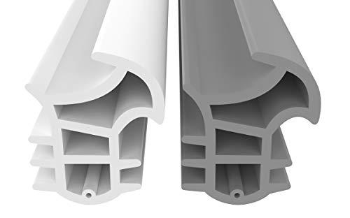 Stahlzargendichtung Grau 10m - gegen Zugluft Lärm & Staub spart Heizkosten Dichtung Dichtungshöhe 17mm Dichtungsbreite 14mm Falz Türdichtung (Grau 10m)