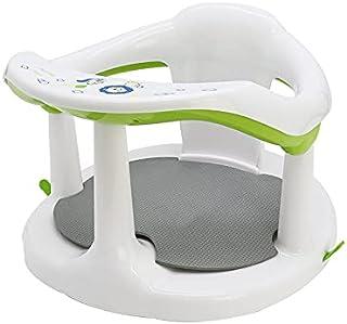 Baby Surround Bath Seat Newborn Soft Sit-Up Bathtub Chair Cute Non-Slip Infants Bathing Backrest Support with Mat & Suctio...